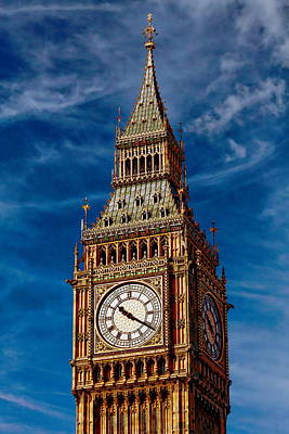 Photograph - Big Ben by Anthony Dezenzio