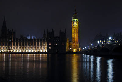 House Of Commons Photograph - Big Ben At Night by Andrew Soundarajan
