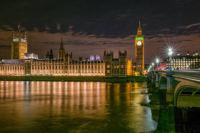 Westminster Photograph - Big Ben At Night by Carlo Fazio