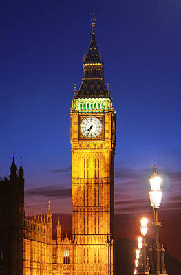 Big Ben At Night Art Print by Dan Breckwoldt