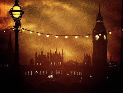 Art Print featuring the digital art Big Ben At Night by Fine Art By Andrew David