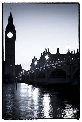 Photograph - Big Ben At Night by John Rizzuto