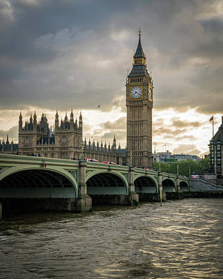 Big Ben Wall Art - Photograph - Big Ben At Sunset by James Udall