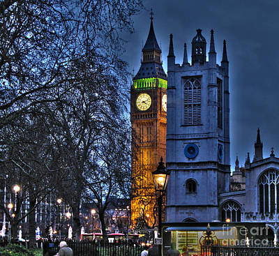 St Margaret Photograph - Big Ben At Twilight by Jack Schultz