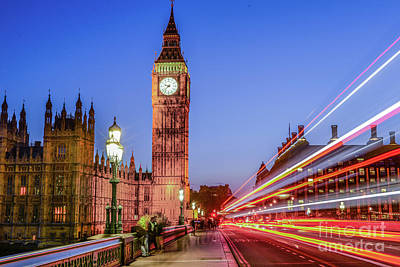 Photograph - Big Ben By Night by Stacey Granger