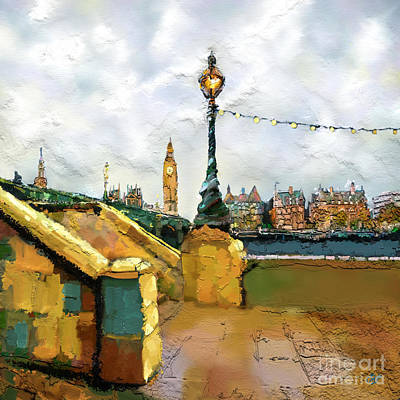 Victorian Town Digital Art - Big Ben by Carrie Joy Byrnes