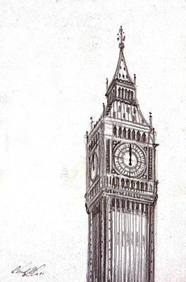 Mindful Drawing - Big Ben by Chad Glass