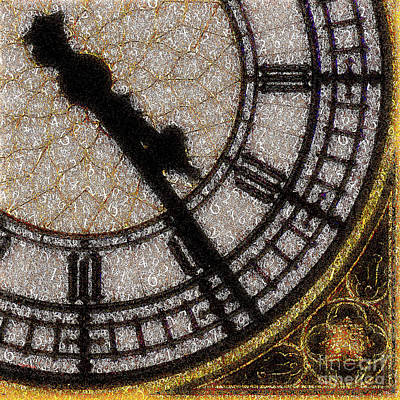 Print featuring the photograph Big Ben Clock Color By Numbers 20161115v2 by Wingsdomain Art and Photography
