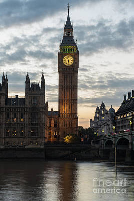 Photograph - Big Ben Dusk Reflection by Mike Reid