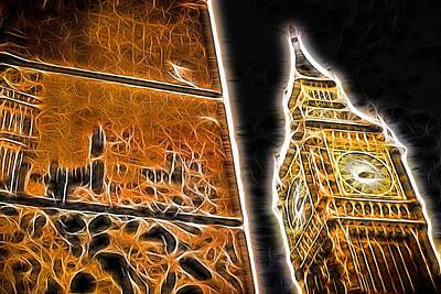 Photograph - Big Ben Famous Landmark And Wall Graffiti by John Williams