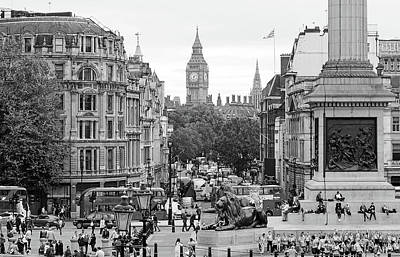 Photograph - Big Ben From Trafalgar Square by Joe Winkler