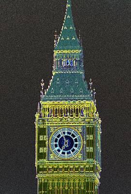 Big Ben Glowing Original by Charles  Ridgway