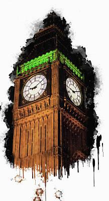 Big Ben Mixed Media - Big Ben In London by Anna Maloverjan
