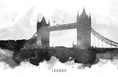 Tower Bridge London Painting - Big Ben London 11 by Aged Pixel
