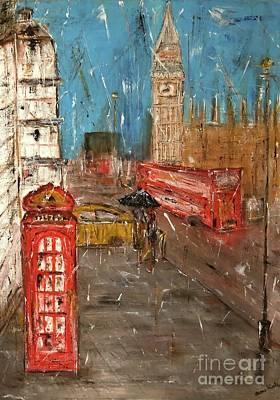 London Skyline Paintings - Big Ben, London by Dora Art
