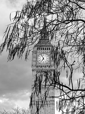 Photograph - Bw Big Ben London by Lexa Harpell