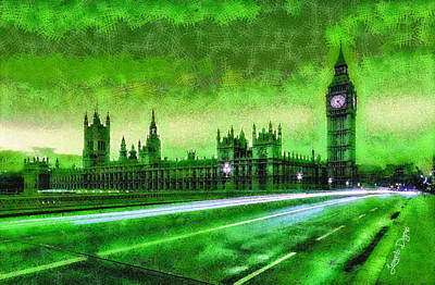 Big Ben Painting - Big Ben London - Pa by Leonardo Digenio