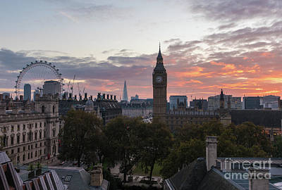 Big Ben London Sunrise Art Print by Mike Reid