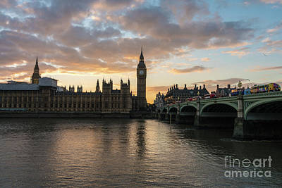 Big Ben London Sunset Art Print by Mike Reid