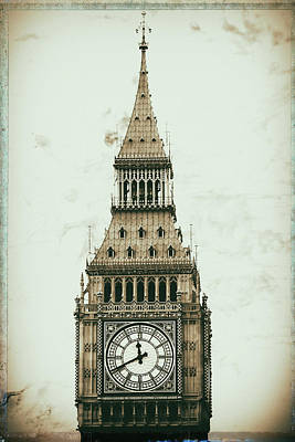 Gothic Bridge Photograph - Big Ben by Martin Newman