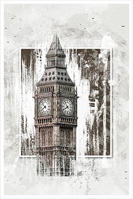 London Mixed Media - Big Ben by Melissa Smith