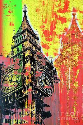 Big Ben Mixed Media - Big Ben by Nica Art Studio