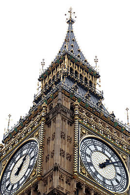 Clear Sky Photograph - Big Ben by Peter Funnell