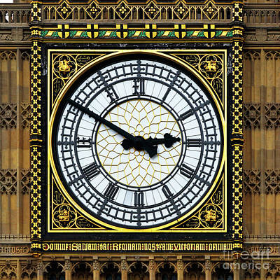 London Photograph - Big Ben Square Portrait by James Brunker
