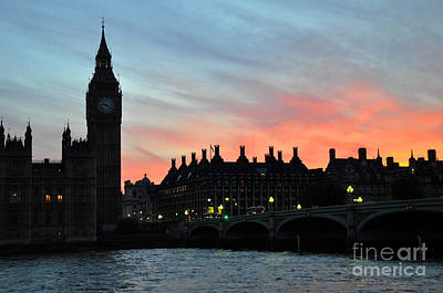 Photograph - Big Ben Sunset 2 by Andrew Dinh