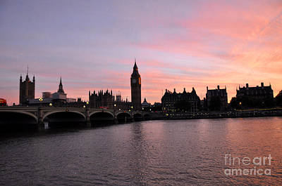 Photograph - Big Ben Sunset by Andrew Dinh