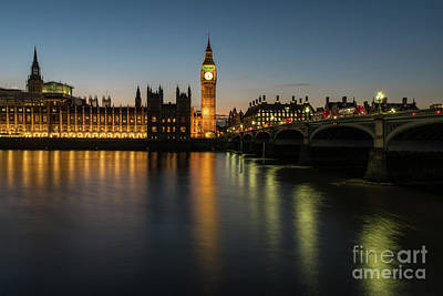 Photograph - Big Ben Thames Dusk Serenity by Mike Reid