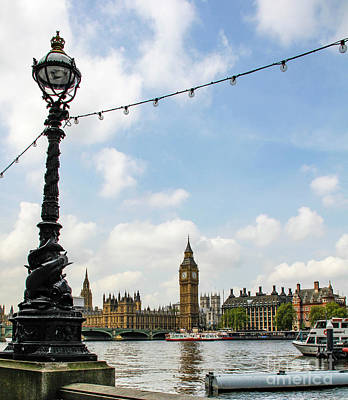 Photograph - Big Ben With Sturgeon Lamp by Marina McLain