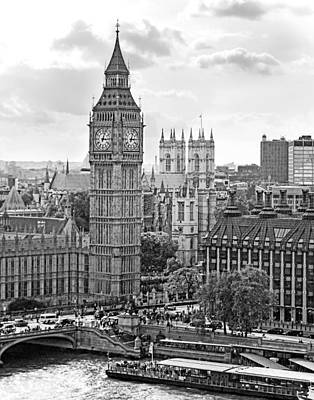 Photograph - Big Ben With Westminster Abbey by Joe Winkler