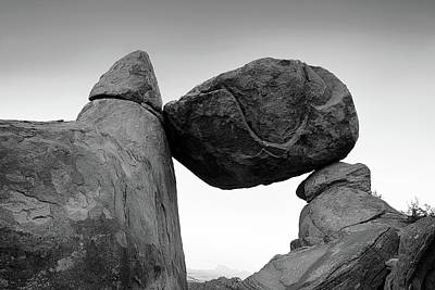 Photograph - Big Bend Balanced Rock Bw 110716 by Rospotte Photography