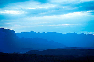Photograph - Big Bend Blue Haze by Rospotte Photography