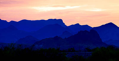 Photograph - Big Bend Blue Peach by Rospotte Photography
