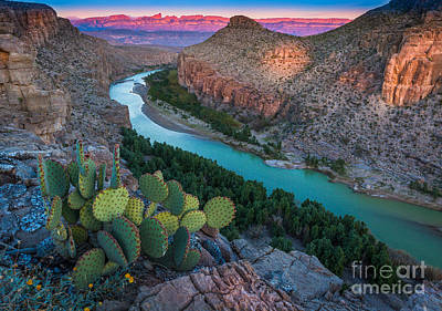 Big Bend Evening Art Print by Inge Johnsson