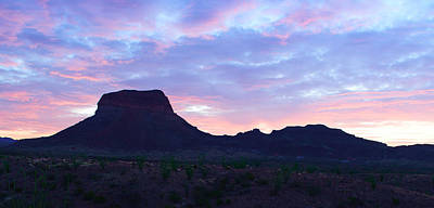 Texas Photograph - Big Bend Morning Colors by Rospotte Photography