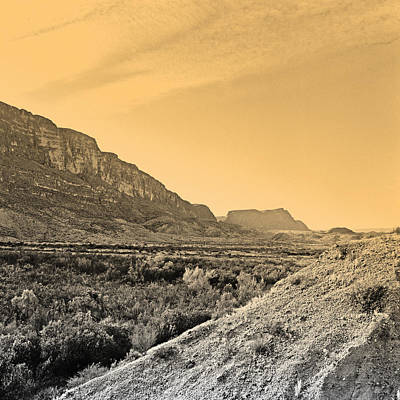Big Bend Natinal Park At Sunset Art Print