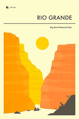 Big Bend National Park Poster Art Print by Jazzberry Blue
