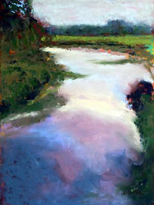 Ruben Carrillo Wall Art - Pastel - Big River Bend by Ruben Carrillo