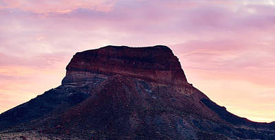 Photograph - Big Bend Sunrise Peach by Rospotte Photography