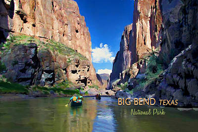 Grande Painting - Big Bend Texas National Park Mariscal Canyon Text Big Bend Texas by Elaine Plesser
