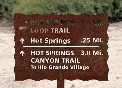 Photograph - Big Bend Trail Sign 2016 by Rospotte Photography
