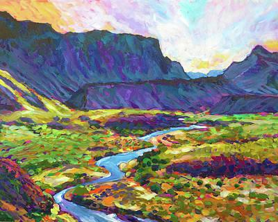Wall Art - Painting - Big Bend Vista by Charles Wallis