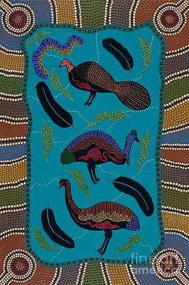 Painting - Big Birds Of Australia by Clifford Madsen
