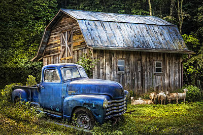 Photograph - Big Blue At The Farm by Debra and Dave Vanderlaan