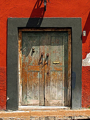 Portal Photograph - Big Blue Door by Mexicolors Art Photography