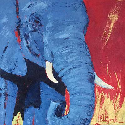 Big Blue Art Print by Karen Macek