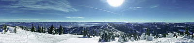 Schweitzer Mountain Photograph - Big Blue Panorama by Danny Larsen